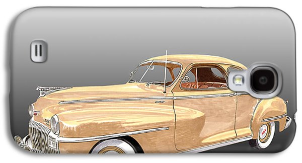 Business Drawings Galaxy S4 Cases - 1948 De Soto Club Coupe Galaxy S4 Case by Jack Pumphrey