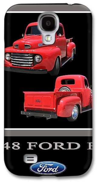 Enhance Galaxy S4 Cases - 1948 Ford F 1 Poster Galaxy S4 Case by Jack Pumphrey
