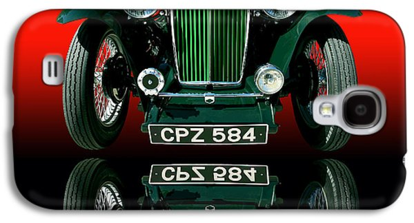 Transportation Photographs Galaxy S4 Cases - 1948 MG TC Roadster Galaxy S4 Case by Jim Carrell