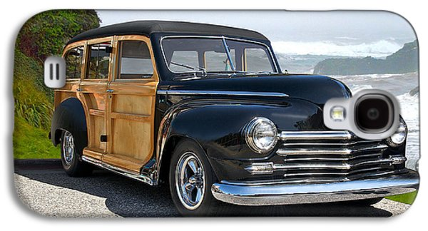 Slam Galaxy S4 Cases - 1948 Plymouth Special Deluxe Woody Wagon Galaxy S4 Case by Dave Koontz
