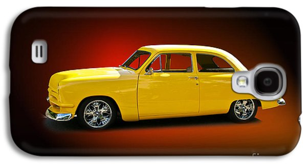 Slam Galaxy S4 Cases - 1950 Ford Coupe Studio Red Galaxy S4 Case by Dave Koontz
