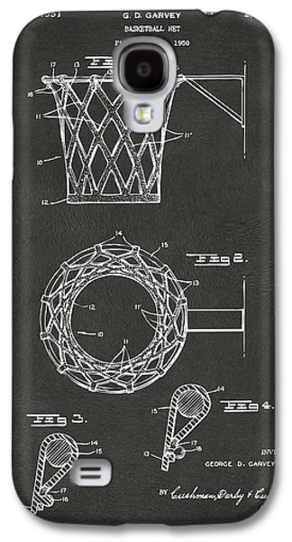 Basket Ball Game Galaxy S4 Cases - 1951 Basketball Net Patent Artwork - Gray Galaxy S4 Case by Nikki Marie Smith