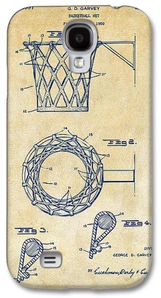 Basket Ball Game Galaxy S4 Cases - 1951 Basketball Net Patent Artwork - Vintage Galaxy S4 Case by Nikki Marie Smith