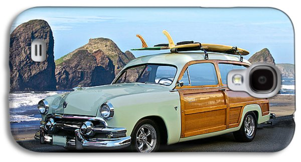 Slam Galaxy S4 Cases - 1951 Ford Woody Wagon Galaxy S4 Case by Dave Koontz