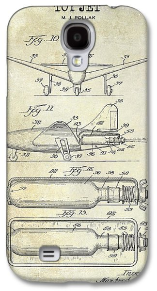 Airliner Galaxy S4 Cases - 1951 Toy Jet Patent Drawing Galaxy S4 Case by Jon Neidert