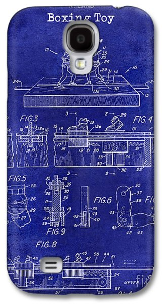 1952 Boxing Toy Patent Drawing Blue Galaxy S4 Case by Jon Neidert