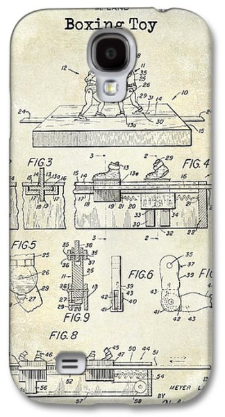 Boxer Galaxy S4 Cases - 1952 Boxing Toy Patent Drawing Galaxy S4 Case by Jon Neidert