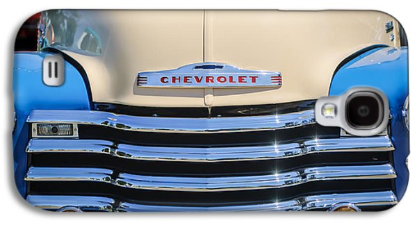 Transportation Photographs Galaxy S4 Cases - 1952 Chevrolet Pickup Truck Grille Emblem Galaxy S4 Case by Jill Reger