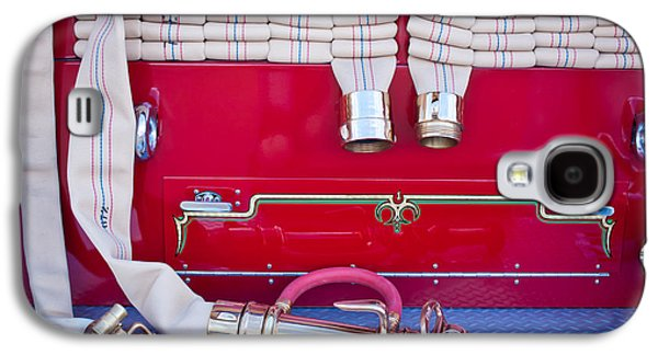 Truck Photographs Galaxy S4 Cases - 1952 L Model Mack Pumper Fire Truck Hoses Galaxy S4 Case by Jill Reger