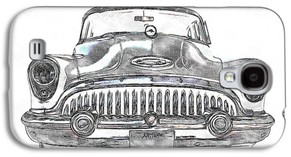 50s Photographs Galaxy S4 Cases - 1953 Buick Roadmaster FE Galaxy S4 Case by Edward Fielding