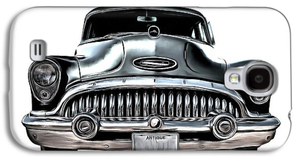 50s Photographs Galaxy S4 Cases - 1953 Buick Roadmaster Silver Galaxy S4 Case by Edward Fielding
