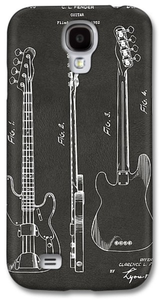 1953 Fender Bass Guitar Patent Artwork - Gray Galaxy S4 Case by Nikki Marie Smith