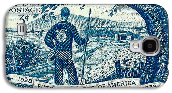 Us Postal Service Galaxy S4 Cases - 1953 Future Farmers of America Postage Stamp Galaxy S4 Case by David Patterson