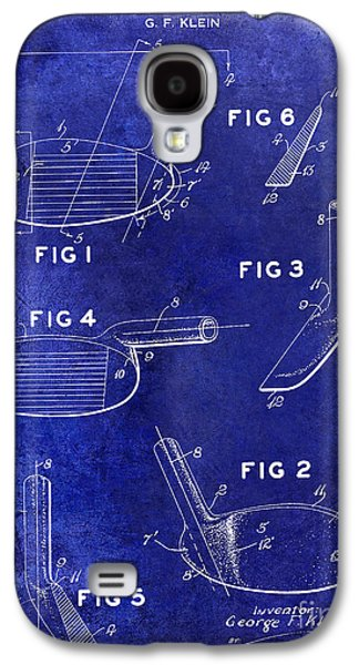 Golf Club Photographs Galaxy S4 Cases - 1954 Golf Patent Drawing Blue Galaxy S4 Case by Jon Neidert