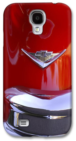 Car Part Photographs Galaxy S4 Cases - 1955 Chevrolet Belair Nomad Emblem Galaxy S4 Case by Jill Reger