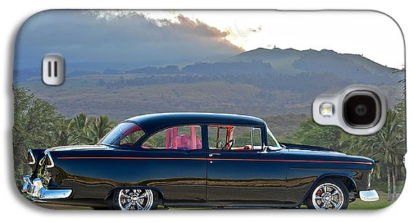 Slam Galaxy S4 Cases - 1955 Chevrolet Custom Coupe Galaxy S4 Case by Dave Koontz