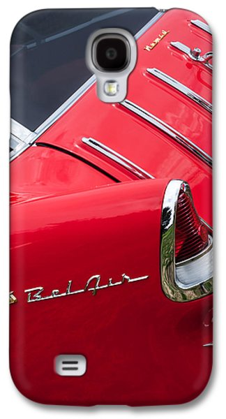 Wagon Photographs Galaxy S4 Cases - 1955 Chevrolet Nomad Wagon Taillight Emblem Galaxy S4 Case by Jill Reger