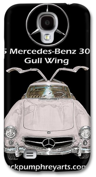 At Poster Mixed Media Galaxy S4 Cases - 1955 Mercedes Benz 300 S L Gull Wing Galaxy S4 Case by Jack Pumphrey