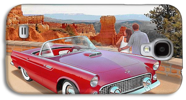 1955 Thunderbird At  Bryce Canyon  Classic Ford Art Sketch Rendering Art Sketch Rendering            Galaxy S4 Case by John Samsen
