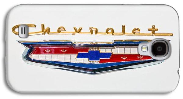Transportation Photographs Galaxy S4 Cases - 1956 Chevrolet 210 Emblem Galaxy S4 Case by Jill Reger