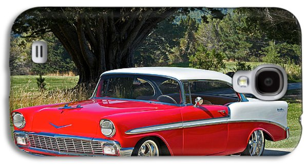 Slam Galaxy S4 Cases - 1956 Chevy Bel Air West Galaxy S4 Case by Dave Koontz