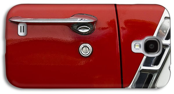 50s Photographs Galaxy S4 Cases - 1956 Chevy Door Detail Galaxy S4 Case by Carol Leigh