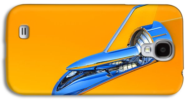 Robert Jensen Galaxy S4 Cases - 1956 Chevy Hood Ornament Galaxy S4 Case by Robert Jensen