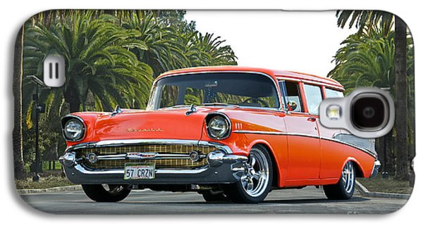 Slam Galaxy S4 Cases - 1957 Chevrolet Bel Air Wagon Galaxy S4 Case by Dave Koontz