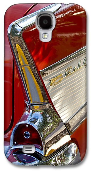 Automobiles Photographs Galaxy S4 Cases - 1957 Chevrolet Belair Taillight Galaxy S4 Case by Jill Reger