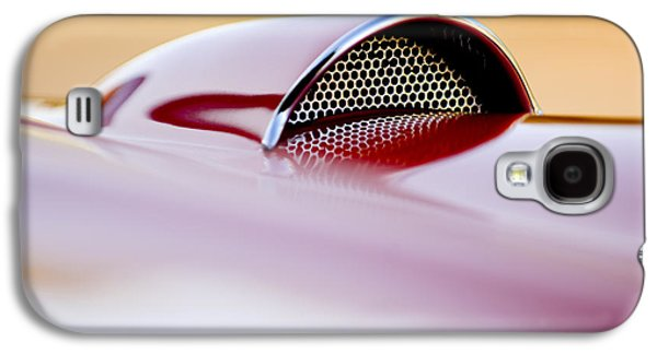 Car Abstract Photographs Galaxy S4 Cases - 1957 Chevrolet Corvette Convertible Scoop Galaxy S4 Case by Jill Reger