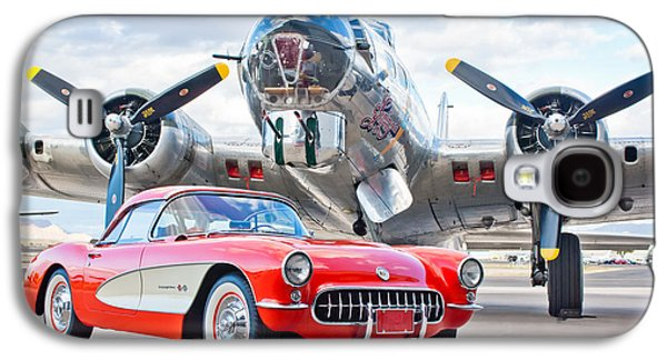 Classic Cars Photographs Galaxy S4 Cases - 1957 Chevrolet Corvette Galaxy S4 Case by Jill Reger