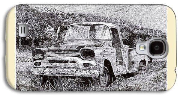 Mining Photos Galaxy S4 Cases - 1957 G M C Pick Up Truck Galaxy S4 Case by Jack Pumphrey