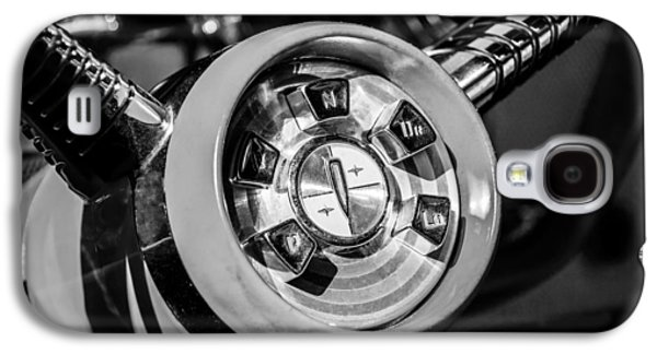 1958 Edsel Pacer Convertible Steering Wheel Transmission -0895bw Galaxy S4 Case by Jill Reger