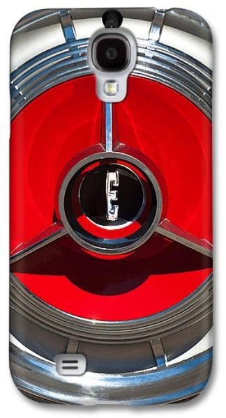 1958 Edsel Pacer Convertible Wheel Emblem Galaxy S4 Case by Jill Reger