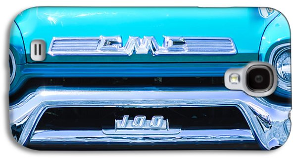 Transportation Photographs Galaxy S4 Cases - 1958 GMC Series 101-S Pickup Truck Grille Emblem Galaxy S4 Case by Jill Reger