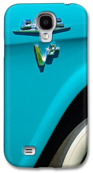 Series Photographs Galaxy S4 Cases - 1958 GMC Series 101-S Pickup Truck Side Emblem Galaxy S4 Case by Jill Reger