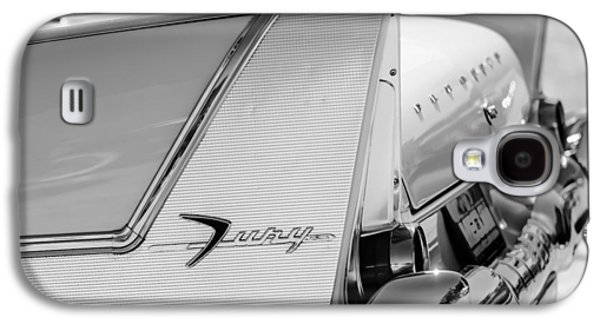 Fury Galaxy S4 Cases - 1958 Plymouth Fury Golden Commando Taillight Emblem -3447bw Galaxy S4 Case by Jill Reger