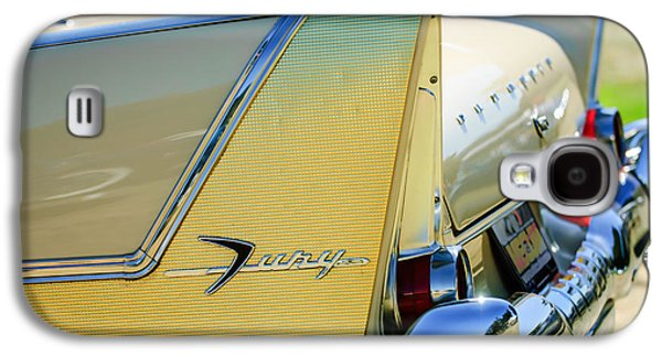 Fury Galaxy S4 Cases - 1958 Plymouth Fury Golden Commando Taillight Emblem -3447c Galaxy S4 Case by Jill Reger