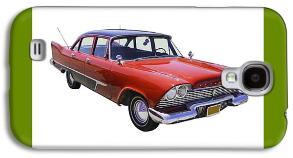 Fury Digital Art Galaxy S4 Cases - 1958 Plymouth Savoy Classic Car Galaxy S4 Case by Keith Webber Jr