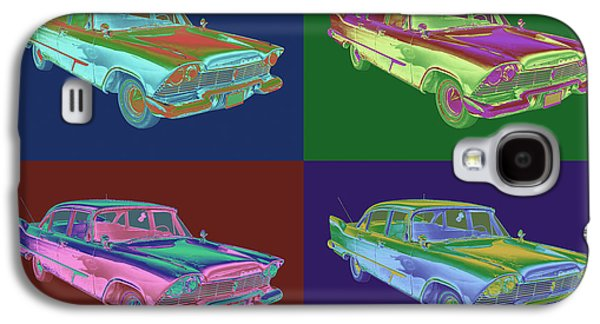 Fury Digital Art Galaxy S4 Cases - 1958 Plymouth Savoy Classic Car Pop Art Galaxy S4 Case by Keith Webber Jr