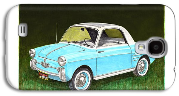 Business Drawings Galaxy S4 Cases - 1959 Autobianchi Bianchina Galaxy S4 Case by Jack Pumphrey