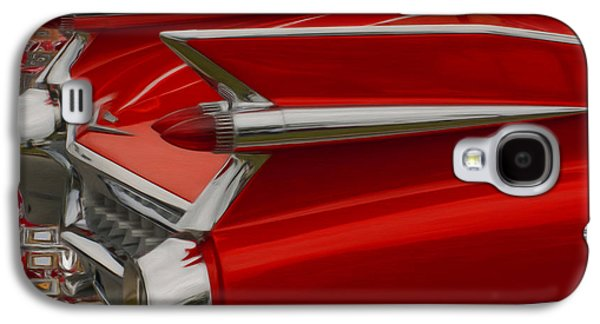 Car Mascot Digital Galaxy S4 Cases - 1959 Cadillac Galaxy S4 Case by Jack Zulli