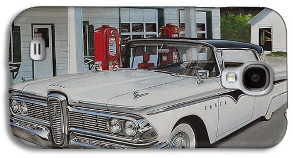 Shed Drawings Galaxy S4 Cases - 1959 Edsel Ranger Galaxy S4 Case by Paul Kuras