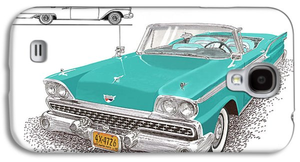 Mechanism Galaxy S4 Cases - 1959 Ford 500 Fairlane Retractable Hard Top Galaxy S4 Case by Jack Pumphrey