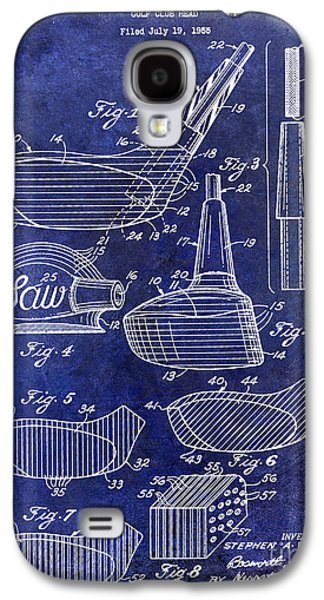 Golf Club Photographs Galaxy S4 Cases - 1959 Golf Club Patent Drawing Blue Galaxy S4 Case by Jon Neidert