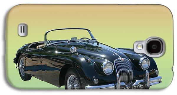 Best Sellers -  - Original Photographs Galaxy S4 Cases - 1959 Jaguar 150 S S drop head coupe Galaxy S4 Case by Jack Pumphrey