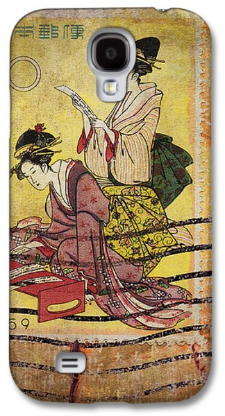 Postage Galaxy S4 Cases - 1959 Japanese Postcard Mail Galaxy S4 Case by Carol Leigh
