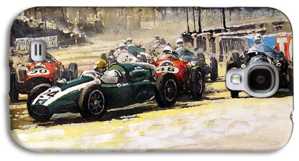1959 Monaco Gp  #24 Cooper Climax T51 Jack Brabham Winner  Galaxy S4 Case by Yuriy Shevchuk