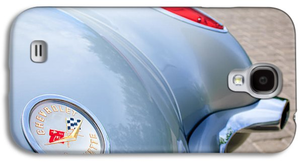 1960 Photographs Galaxy S4 Cases - 1960 Chevrolet Corvette Emblem - Taillight Galaxy S4 Case by Jill Reger
