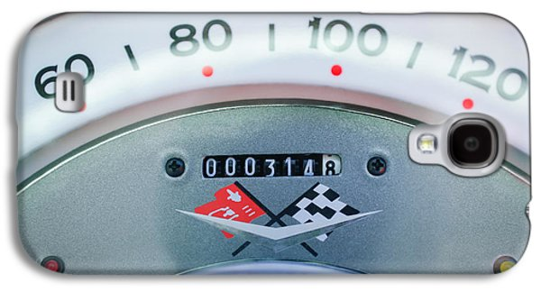 1960 Galaxy S4 Cases - 1960 Chevrolet Corvette Speedometer Galaxy S4 Case by Jill Reger